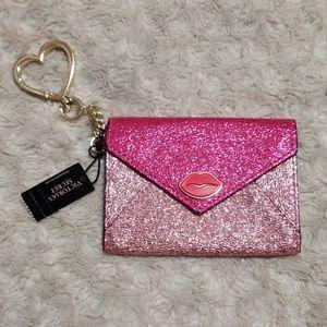 New! Victoria's Secret Envelope CardHolderKeyCharm